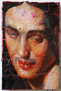 portrait 3,Painting by Rayk Goetze