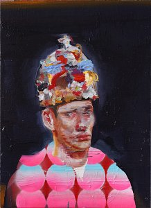 Sad King,Painting by Rayk Goetze