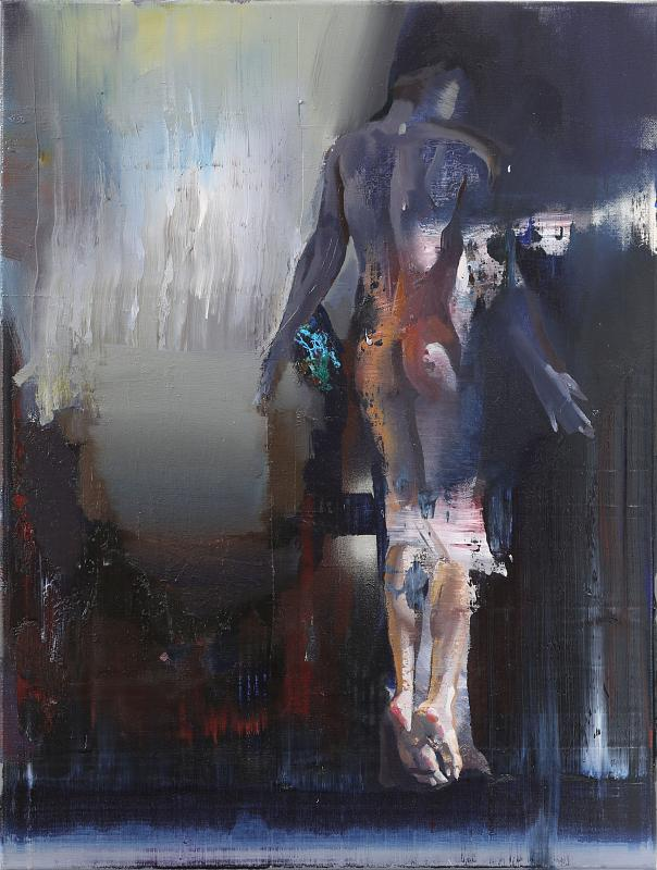 Der Fall, Painting by Rayk Goetze
