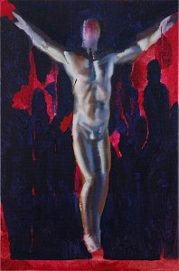Man (Contemporary Dance),Painting by Rayk Goetze