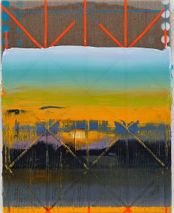 Landscape (Grid),Painting by Rayk Goetze