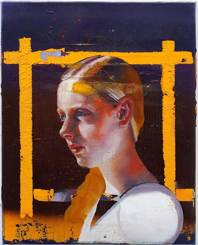 (Portrait), Painting by Rayk Goetze
