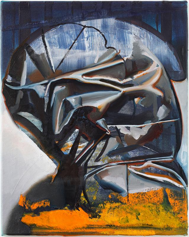The Unknown (Portrait N°2), Painting by Rayk Goetze